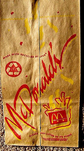 McDonald's bag (pop art) 1991