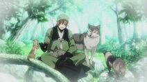 Sasuke con los animales