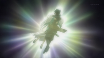 Isanami abrazando a Saizo