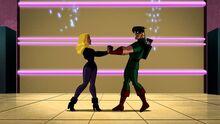 Green Arrow and Black Canary.