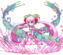Blühende Sakura-Miku