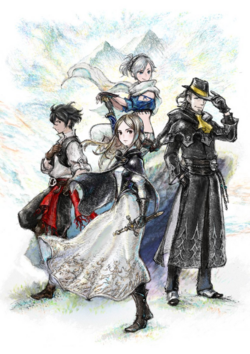 Bravely Default II Character Art
