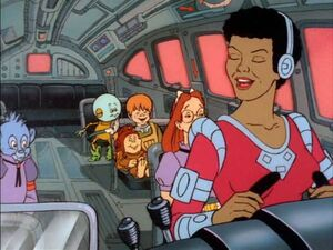 Miss Jenny at the wheel