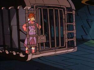 Michelle in a cel.