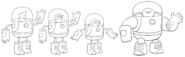 Bravest Warriors in space suits