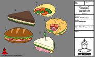 BW - Model - Five Sandwiches