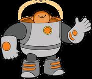 Wallow in space suit helmet lights on