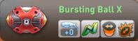 Bursting ball x