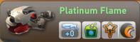 Platinum flame