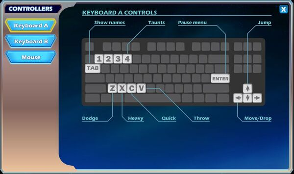 Brawlhalla keyboard controls