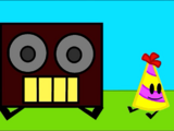 Boombox and Party Hat