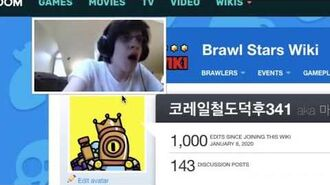 Here's a meme about me getting 1k edits in Brawl Stars Wiki