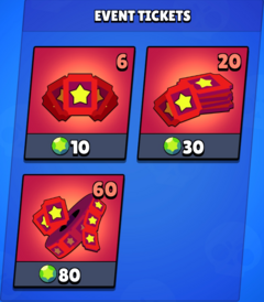 Ticket in the shop