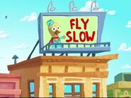 Fly Slow Sign