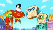 Super Duck vs Muscle Bread11