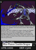 Blue Flames Zombie Dragons