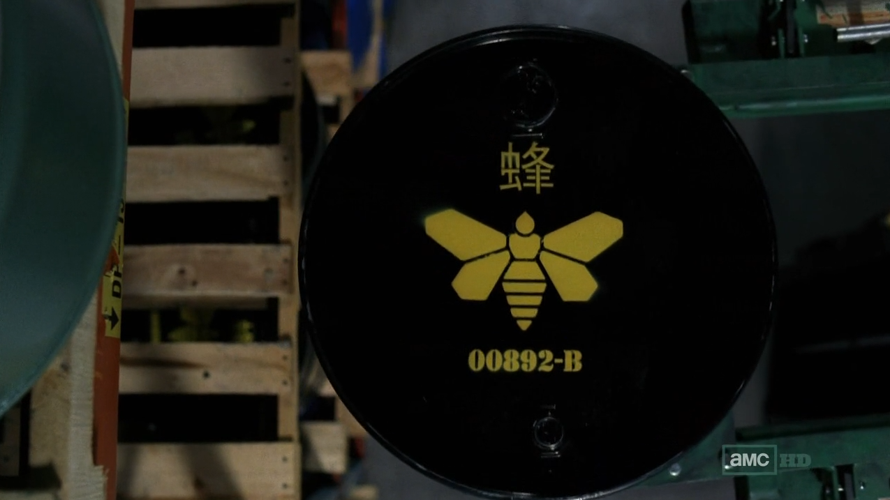 Breaking Bad Yellow Moth Chemical Stencil