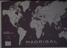 Madrigal Global Distribution map