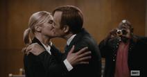 Kim and Jimmy kiss