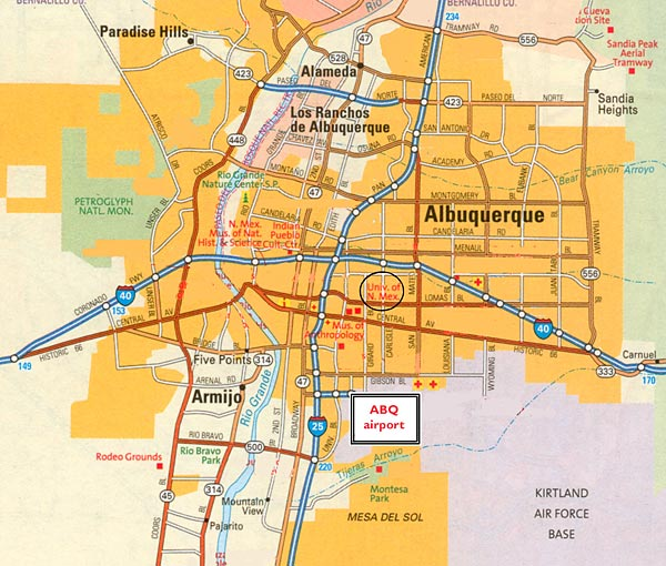 Albuquerque Breaking Bad Wiki FANDOM Powered By Wikia - Albuquerque map