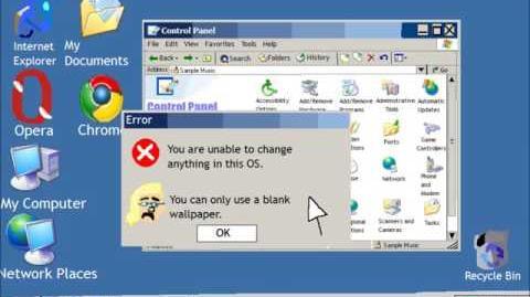 Windows Ancient Edition Display Error