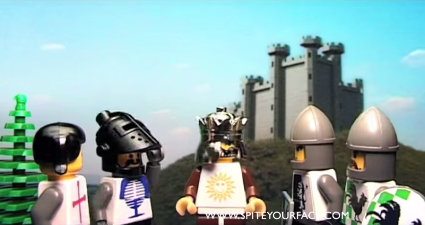 King Arthur And His Knights Discuss Going To Camelot (itu0027s Only A LEGO  Model)