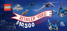 LEGO Jurassic World Retailer Video Project
