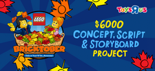 "LEGO Toys ""R"" Us Bricktober Concept, Script and Storyboard Project"