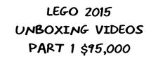 LEGO 2015 Unboxing Videos Part 1 Gig Contest