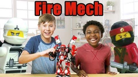 The LEGO NINJAGO MOVIE EPIC Fire Mech Review- The Build Zone Season 5 Episode 10