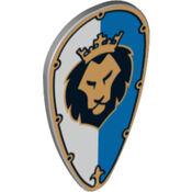 Schild (Ovaal) Leeuw wit blauw 2
