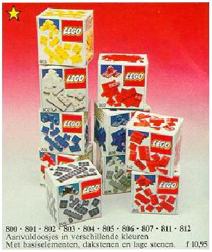 8-serie aanvuldoosjes catalogus 1986
