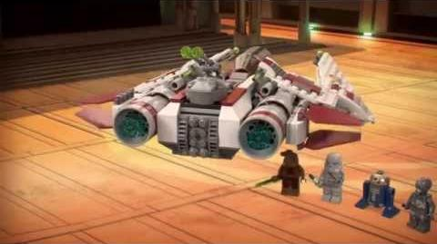 LEGO StarWars 75051 Jedi Scout Fighter LEGO 3D Review