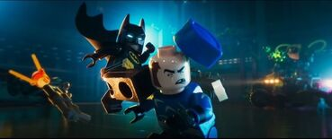 Batman taking out Captain Boomerang
