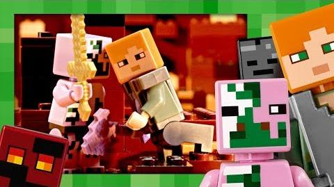 The Nether Fight - LEGO Minecraft - 21139 - Stop Motion
