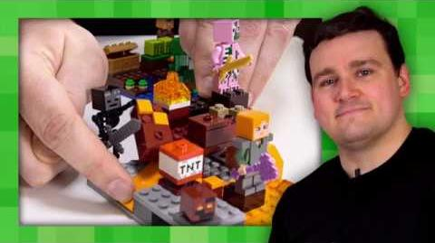 Melon Farm and Nether Fight - LEGO Minecraft - 21138 - Designer Video