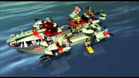 Lego Chima 70006 - Craggers Command Ship - Lego 3D Review