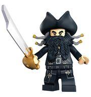 Blackbeard met zwaard