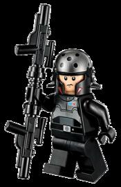Agent Kallus met bo-blaster