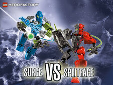 Surge vs. Splitface wallpaper