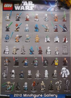 Star Wars 2010 Minifigure Gallery Poster