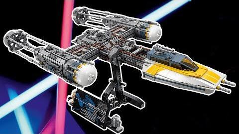 LEGO Star Wars Y-Wing Starfighter Designer Video LEGO UCS 2018 Sets 75181