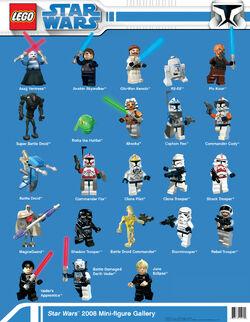 Star Wars 2008 Mini-figure Gallery