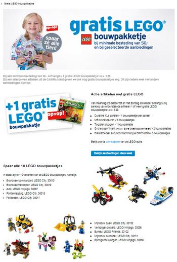 LEGO GAMMA actie 2012