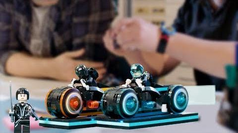 LEGO TRON Legacy Light Cycle Designer Video Disney's TRON Legacy LEGO Ideas 21314