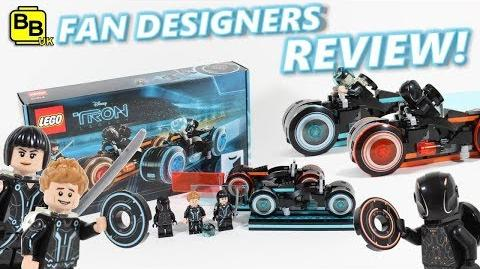 LEGO IDEAS TRON LEGACY LIGHT CYCLE 21314 SET OFFICIAL REVIEW!