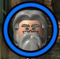 Professor Perkamentus (Grey) Character Token