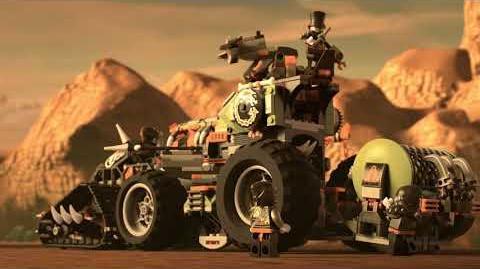 Armored vehicle attacks! - LEGO NINJAGO 70654 Dieselnaut