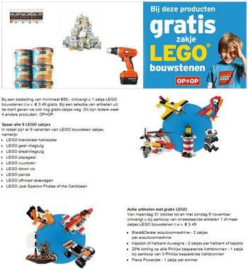 LEGO GAMMA actie 2011