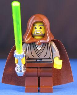 Jedi Knight met lichtzwaard